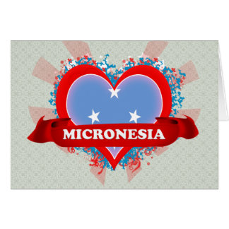 Vintage I Love Micronesia Greeting Card