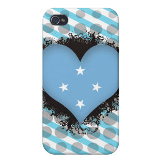 Vintage I Love Micronesia Cases For iPhone 4