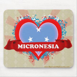 Vintage I Love Micronesia Mouse Pad
