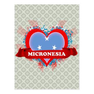 Vintage I Love Micronesia Postcard