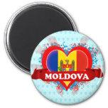 Vintage I Love Moldova Magnets