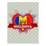 Vintage I Love Moldova Post Card