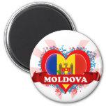 Vintage I Love Moldova Refrigerator Magnets