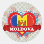 Vintage I Love Moldova Stickers