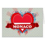 Vintage I Love Monaco Card