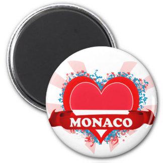 Vintage I Love Monaco Magnet