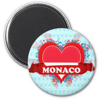 Vintage I Love Monaco Refrigerator Magnet