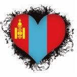 Vintage I Love Mongolia Acrylic Cut Outs