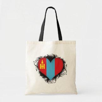 Vintage I Love Mongolia Canvas Bag