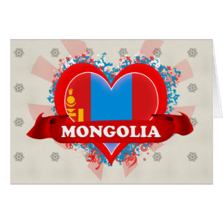 Vintage I Love Mongolia Greeting Card