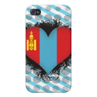 Vintage I Love Mongolia iPhone 4 Covers