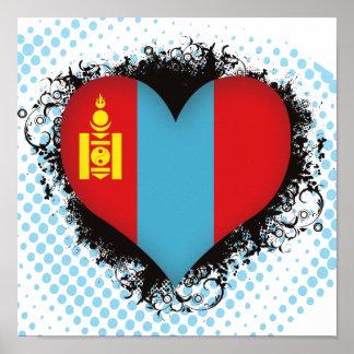 Vintage I Love Mongolia Print