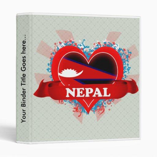 Vintage I Love Nepal Binders