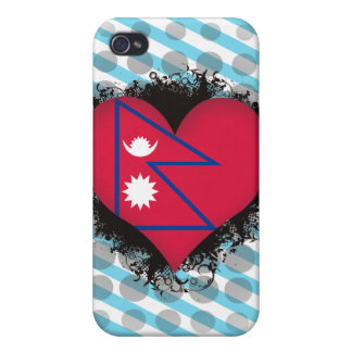 Vintage I Love Nepal iPhone 4 Cover