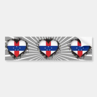 Vintage I Love Netherlands Antilles Bumper Stickers