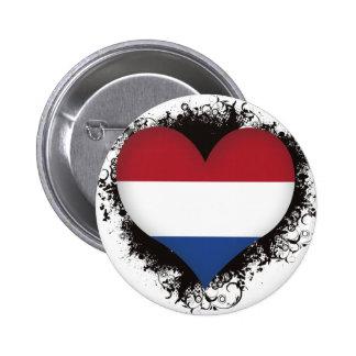 Vintage I Love Netherlands Buttons