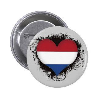 Vintage I Love Netherlands Button