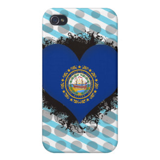 Vintage I Love New Hampshire iPhone 4 Cover
