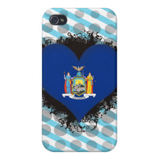 Vintage I Love New York Cover For iPhone 4