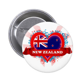 Vintage I Love New Zealand Button