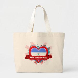 Vintage I Love Nicaragua Canvas Bags