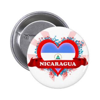 Vintage I Love Nicaragua Pinback Button