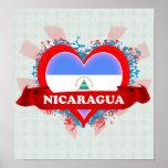 Vintage I Love Nicaragua Poster