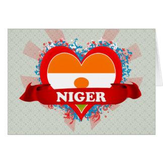Vintage I Love Niger Greeting Card