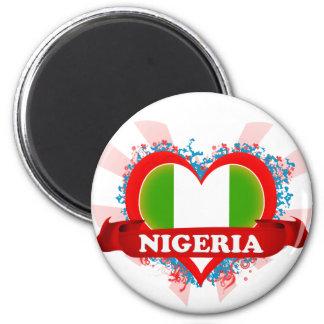 Vintage I Love Nigeria Fridge Magnets