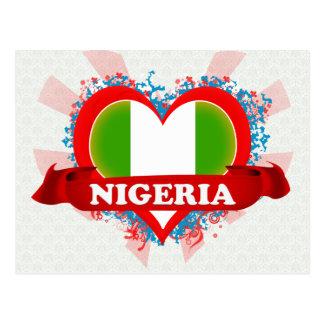 Vintage I Love Nigeria Postcard