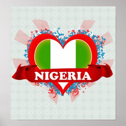 Vintage I Love Nigeria Posters