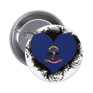 Vintage I Love North Dakota Button
