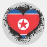 Vintage I Love North Korea Sticker