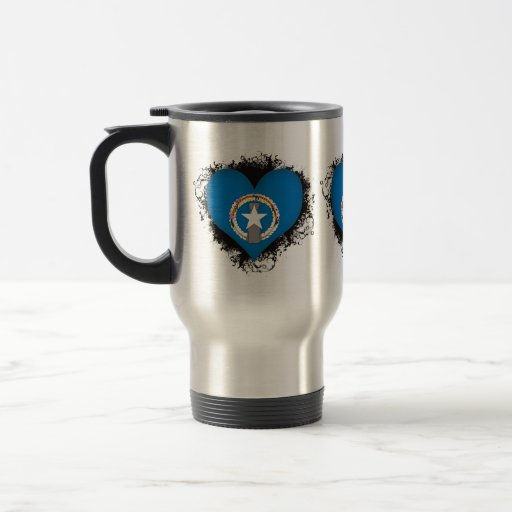 Vintage I Love Northern Mariana Islands Travel Mug