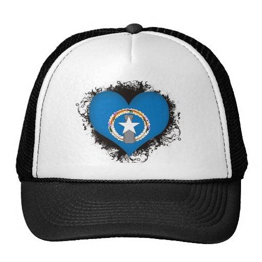 Vintage I Love Northern Mariana Islands Trucker Hat