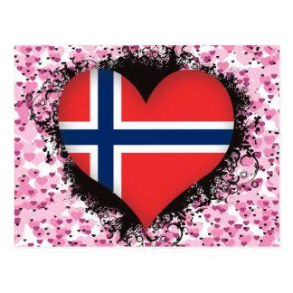 Vintage I Love Norway Postcard