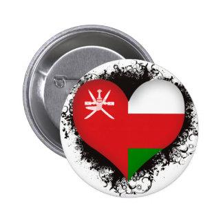 Vintage I Love Oman 2 Inch Round Button