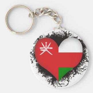 Vintage I Love Oman Basic Round Button Keychain