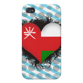 Vintage I Love Oman iPhone 4/4S Cases