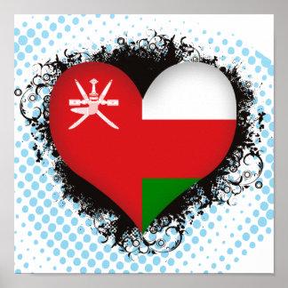 Vintage I Love Oman Poster