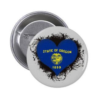 Vintage I Love Oregon Buttons
