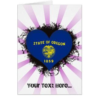 Vintage I Love Oregon Card