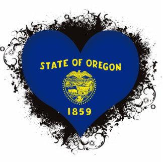 Vintage I Love Oregon Photo Sculptures