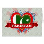 Vintage I Love Pakistan Greeting Cards