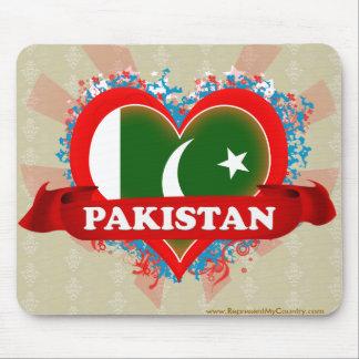 Vintage I Love Pakistan Mouse Pads