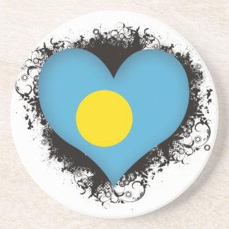 Vintage I Love Palau Drink Coasters