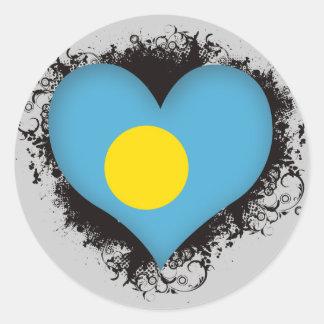 Vintage I Love Palau Sticker