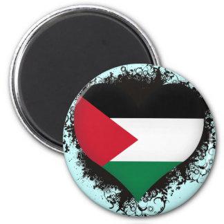 Vintage I Love Palestine 2 Inch Round Magnet