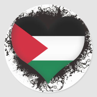Vintage I Love Palestine Classic Round Sticker