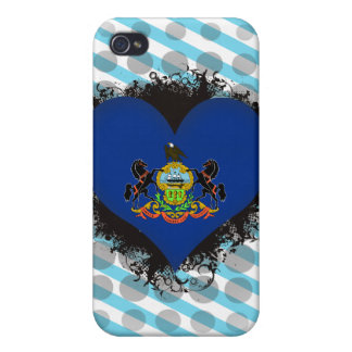 Vintage I Love Pennsylvania iPhone 4/4S Covers